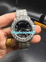 Full diamonds day big stones bezel date luxury watch automat...