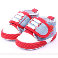 Al por mayor- 2016Hot Kids Zapatos de bebé Infant Girls Butterfly Zapatos Impresos Soft Sole Zapatos de lona Botines Para Recién Nacidos Prewalker 0-1Y
