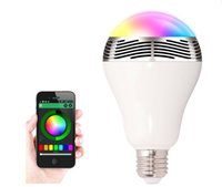 6w Wireless Bluetooth Speakers Lamp Colorful LED Light Bulbs...