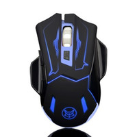 Super Ice fox USB Rechargeable Wireless Gaming Mouse with fl...