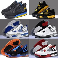 2016 New 4 Men Basketball shoes Black Cat Pure Mars Thunder ...
