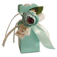 2019 neue Kommen Hochzeit Favor Boxen Papier Sweety Box geformt mit großen eleganten künstlichen künstlichen künstlichen party geschenk paket europäisch heißer verkauf