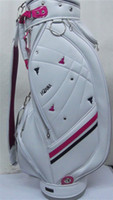golf bag women white and pink PU Leather Golf cart bag lady ...
