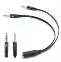 3.5mm 1 여성 대 2 남성 헤드폰 이어폰 오디오 케이블 마이크 스플리터 어댑터 연결 코드 노트북 PC