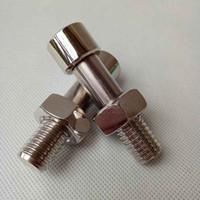 Neueste Silber Schraube Bolzen Pille Fall Geheimnis Hidden Aufbewahrungsbox Safe Metall Mental Container Stash Bequemlichkeit Home Tools