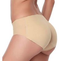新しい女性の柔らかいシームレスなセクシーなパンティニッカー尻臀部裏面シリコーンバムパッド入りバットエンハンサーヒップアップ下着