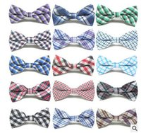 Cute Baby Boys Ties Plaid Bowknot Children Accessories Party...