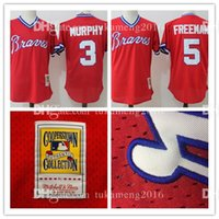 Atlanta Braves 3 Dale Murphy 5 Freddie Freeman Maillots de Baseball Throwback Mitchell Ness 1980 Cooperstown Collection Mesh MLB Jersey