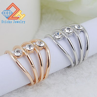 New style Septenary Gold Alloy Hollow V Shape Finger Joints ...