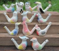 Wasser-Vogelpfeifenton-Vogel keramischer glasig-glänzender Vogelpfeifen-Pfau Vögel der neuen Ankunft 200pcs geben Verschiffen frei