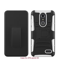 Hard Back Cover Combon Case With Kickstand For ZTE Grand X 4...