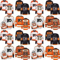 dc9b5ab50 Stade Series 50th Jersey hommes Philadelphia Flyers 53 Shayne Gostisbehere  28 Claude Giroux 88 Éric Lindros