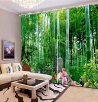 Cortina opaca de gran cantidad para el dormitorio Sala de estar Foto Cortinas de puerta de bambú