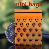 Orange Skull Mini Miniature Zip Lock Grip Plastic Packaging ...