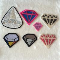 Remendos artificiais do bordado do diamante da tela, remendo da roupa do diamante das lantejoulas, sew, ferro no remendo, Applique para o motociclista, revestimento