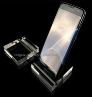 Alta calidad Acrílico transparente teléfono celular móvil soporte de pantalla teléfono moda productos digitales titular de joyería / reloj / pulsera estante de exhibición