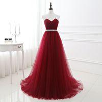 Burgundy BrideMaid платье халат Demoiselle D'Honneur Party Pressing Sweetheart Backbload Prom Платья Vestido Dama de Honra Real Photo