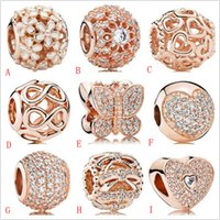 2020 New Genuine 925 Sterling Silver Rose Gold Charm Beads w...