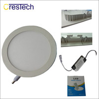 3W 6W 9W 12W Led empotrable Downlights Lámpara Blanco cálido Cool Super-Thin Led Panel de luces Redondo cuadrado