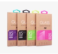 200pcs For iPhone 5 6 Samsung Galaxy S3S5 S6 Note 2 3 4 Tempered Glass Screen Protector Kraft Paper Retail Package Packaging BOX