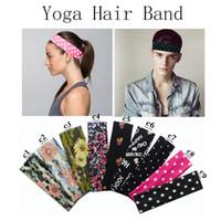 Esticar Headbands Yoga Softball Esportes Soft Hair Band Envoltório Sweatband Algodão