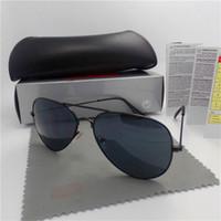 عالية الجودة الفاخرة مصمم نظارات الطيار الأزياء مرآة ماركات الرجال النساء خمر نظارات الشمس مع مربع والحالات
