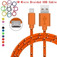 3ft USB Data cables 1M Micro plastic Nylon Braided USB cable...
