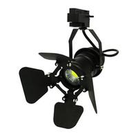10pcs / pack Led Track light 7w cob rail lamp LED negozio di abbigliamento illuminazione LED Spotlight con coperchio regolabile sul davanti