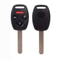 Yeni 4 Düğmeler Yedek Uncut fOR Honda Civic Uzaktan Anahtar Fob Anahtarsız Giriş Değiştirme Verici