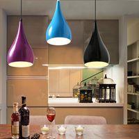 Modern basit alüminyum kolye aydınlatma, tavan kolye led ışık kolye lambaları restoran Avize, 1 kafa, 3 kafa yaratıcı bar Avize