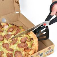 스테인레스 스틸 피자 가위 다기능 슬라이스 2 - in1 커터 서버 주방 피자 절단 도구 베이킹 시저 ZA3205