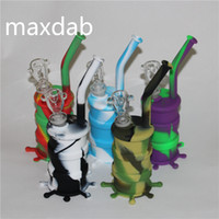 Mini Huile de silicone Hookah avec vitre Down tige et bols Fumer
