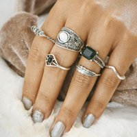 Silver Carved rings Hot Sale Retro Exquisite Cute Personalit...