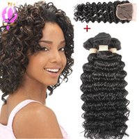 Deep Wave Unprocessed Brazilian Peruvian Virgin Hair Bundles...