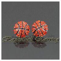 Прохладный сияющий цирконий спортивные мячи Баскетбол Бейсбол шпильки серьги ювелирные изделия для женщин мужчины девушки партии подарки на День Рождения