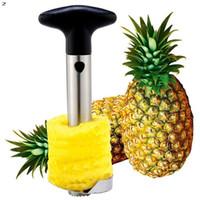 1 pc vente chaude en acier inoxydable fruit ananas corner slicers épluchant coupeur de cerf coup de cuisine facile outil facile