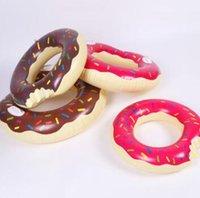 Yaz Su Oyuncak 48 inç Dev Donut Yüzme Şamandıra Şişme Yüzme Halka Yetişkin Havuz Yüzen 2 Renkler