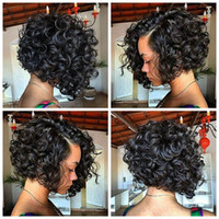 Charming Curly Bob Wigs Glueless Synthetic Lace Front Wigs W...