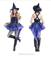 Halloween sexy Witch Costume For Women Sexy Fashion Dress Wi...