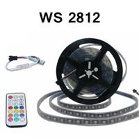 Edison2011 5 m 5 V WS2812 RGB Tiras de Led Luz 60 LEDs SMD5050 Tiras Digitais À Prova D 'Água com 21key Cntroller