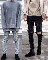 Famous Brand Designer KANYE WEST Justin Bieber jeans for men...