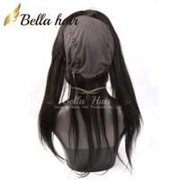 360 Lace Banda Frontals Indietro Pizzo frontale Chiusura con la protezione serica Virgin capelli umani brasiliani Circolare Chiusure Con capelli del bambino
