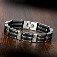 21cm Fashion 3- layers Stainless Steel Men Bracelets & Bangle...