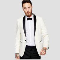 Acheter Mens Costume Blanc Mariage Marié Tuxedo Pour Les Hommes Robe