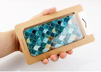 Toptan Persnalized Özelleştirmek Balık Pulu Cep Telefonu Kılıfı için iPhone 8 8 Artı Perakende Kağıt Ambalaj Kutusu ile