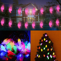 Luci fantasma del LED Decorazioni di Natale di Halloween 20 luci Ghost Solar Home Outdoor Garden Patio Party Forniture per feste In magazzino WX9-34