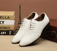 Neue Marke Schöne Männer Leder Wohnungen Oxford Schuhe Weiß Männer Hochzeit Schuhe Spitz Männlich Business Kleid Schuhe