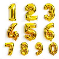 0-9 숫자 풍선 결혼 생일을위한 장난감 크리스마스 파티 장식 40inch 패션 뜨거운 호일 풍선 50pcs = 1Number = 1bag