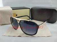 Перевозка груза падения Горячее надувательство Новые солнцезащитные очки EVIDENCE мода Миллионер Солнцезащитные очки мужчины женщины солнцезащитные очки с оригинальной коробке бесплатная доставка