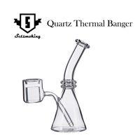 Quartz Bécher Thermique Double Tube Quartz Banger Thermique Nail Nouveau Design avec boîte cadeau Beaker PukinBeagle thermique P Banger